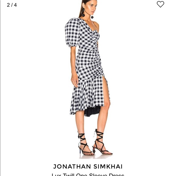Jonathan Simkhai one shouldered dress